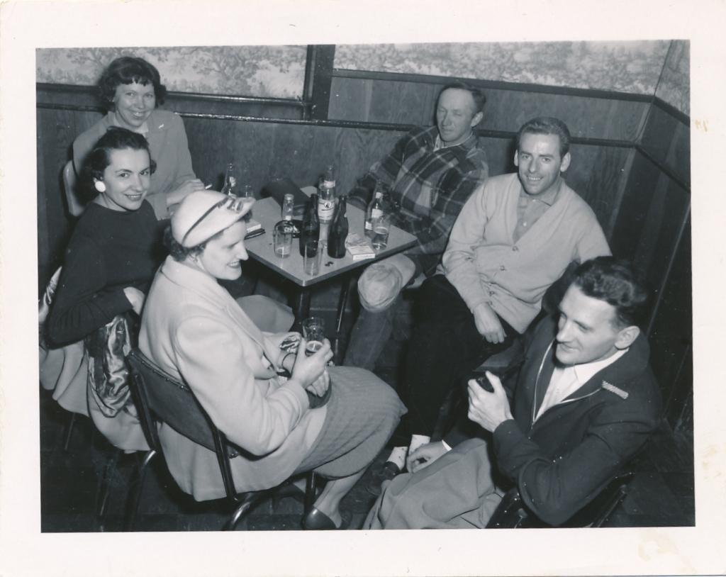 Ladies Room Ayton Hotel (1955) - (Marnie,) Sammy Cunningham, Paul & Nancy Lynch, Mr & Mrs Lynch